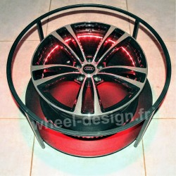 Wheel-Design table salon