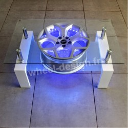 Wheel design table salon jante 18""