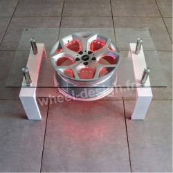 Wheel design table salon