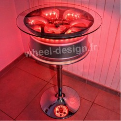 Wheel design table bar 18 pouces